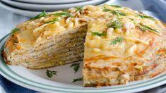 Блинный пирог с курицей и грибами. Пошаговый рецепт с фото на Gastronom.ru