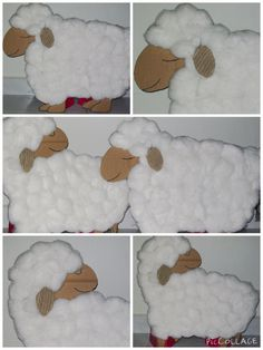 Christmas 2008 - Made these sheep from cardboard and cotton wool as props for a Christmas story skit. Christmas Drama, Christmas Pageant, Christmas Program, A Christmas Story, Kids Christmas, Nativity Costumes, Diy Nativity, Christmas Nativity, Christmas Backdrops