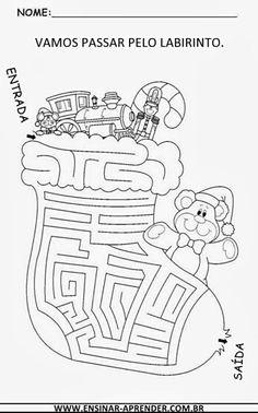 Natal Christmas Maze, Christmas Arts And Crafts, Christmas Colors, Christmas Holidays, Christmas Worksheets, Christmas Activities, Christmas Printables, Christmas Coloring Pages, Christmas Illustration