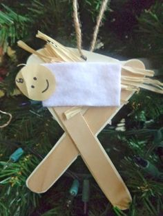 Baby Jesus craft, #truthinthetinsel day 15                                                                                                                                                                                 More