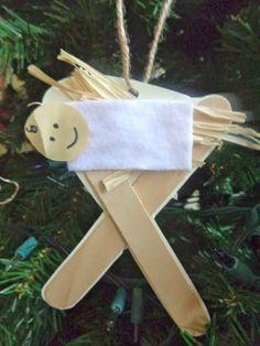 Baby Jesus craft, #truthinthetinsel day 15
