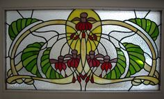 art deco stained glass   Art Deco Fuchsia   Stained Glass   Pinterest