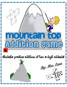 Mountain Top Addition Game! (For Elementary)