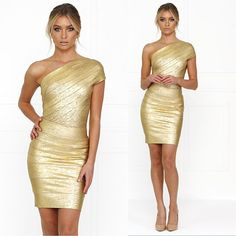 One of our bestselling styles has just been restocked! Gold Foil Bandage Dress w FREE Shipping anywhere in Australia…