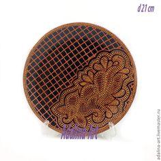 Купить BRONZE декоративная тарелка - бронзовый, золотой, роспись, Роспись по стеклу, точечная роспись, тарелка