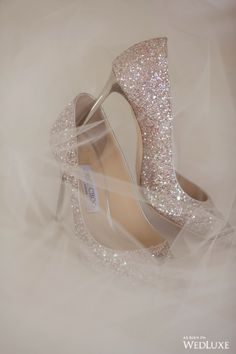 Jimmy Choo wedding shoes. WedLuxe – Stay Golden | Photography by: Sweet Pea Photography Follow @WedLuxe for more wedding inspiration!