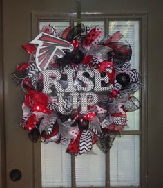 Large Atlanta Falcons wreath by kathyleeskreations on Etsy, $62.00