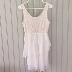 Rue 21 White Cute Dress.