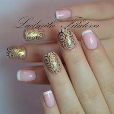 Gold nails #nail #nails #nailart