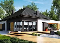 Find home projects from professionals for ideas & inspiration. Projekt domu HomeKONCEPT 27 by HomeKONCEPT Contemporary House Plans, Modern House Plans, Small House Plans, Style At Home, One Storey House, Beautiful House Plans, Bungalow House Plans, Architect House, Prefab Homes