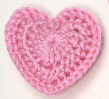 Comment faire un #coeur au #crochet avec un #tuto...