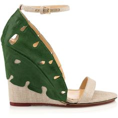 VERDANT WEDGE ❤ liked on Polyvore featuring shoes, wedge shoes, wedge sole shoes and wedge heel shoes
