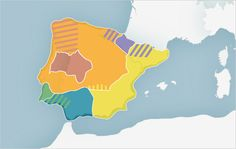 Celts in Iberia represented in Orange