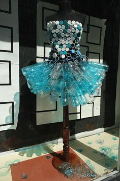 A dress made using #recycled plastic bottles