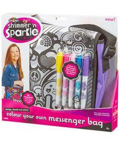 Shimmer and Sparkle Messenger Bag.