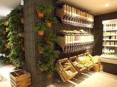 El Huerto de Lucas 3 Shop Interior Design, Cafe Design, Retail Design, Store Design, Bio Design, Tienda Natural, Design Commercial, Organic Market, Food Retail