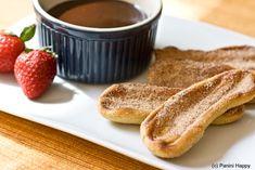 Grillede Churros med Nutella Sauce