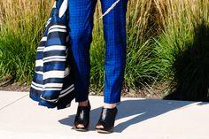 tweed trousers and black peeptoe shooties | The Style Mogul