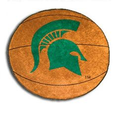 Michigan State Spartans Basketball Shaped Area Rug Floor Mat - 27""