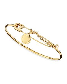 Safety Pin Bracelet, Golden