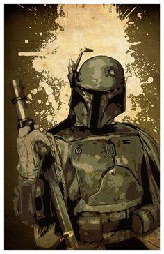 Juego de Poster de Star Wars  Darth Vader Boba Fett y