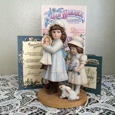 "Jan Hagara Collectible Porcelain Figurine ""Mary Ann & Molly"" in Original Box, Limited Edition  Retired. Excellent condition. No chips, cracks or repairs.  Year: 1988  Limited Edition No: 7076 of 15,000  Item No: S20506  Certificate of Authenticity!"