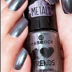 """stay chromed! our i heart trends """"24 chrome paradise"""" give your nails an irressistable metallic finish nail_careskin-tone-2which one of """"the metals"""" nail polishes do you like the most? #essence #longlastinglove #essencelove #loveatfirsttry #ilovetrends #nailstagram #nailsoftheday #notd #manicure #nailswag #nailpolish #nails2inspire #metallic #metallicnails #silvernails #chromenails - See more at: http://iconosquare.com/viewer.php#/detail/1090632850454663631_184828635"""
