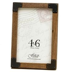 Fetco Home Decor Rustic Charm picture frame.....love these. Have them in 4x6 and 8x10