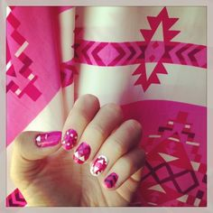 Navajo-inspired nails! Pose by triplyksis