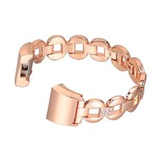 For Fitbit Charge 2, bayite Replacement Metal Bracelet Adjustable Fitbit Charge 2 Bands Rose Gold with Rhinestone * Read more at the image link. (This is an affiliate link) #FitnessTracker