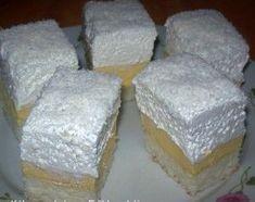 Érdekel a receptje? Hungarian Cake, Hungarian Recipes, Pudding Recipes, Cake Recipes, Coconut Slice, Cake Bars, Desert Recipes, Cake Cookies, Delicious Desserts