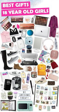 Gifts For 18 Year Old Girls 2020 – Best Gift IdeasThanks thetoybuzz for this post.Browse our ULTIMATE Teen Girl Birthday Gift Guide 2019 featuring 1000 Best Gifts for Teen Girls. Discover COOL and unique Birthday gifts for your 18 Year Old t# gift Teenage Birthday Gifts, Teen Girl Birthday, Tween Girl Gifts, Unique Birthday Gifts, 18th Birthday Gifts For Girls, Unique Gifts, 18th Birthday Present Ideas, Gifts For Teenage Girls, Birthday Wishlist