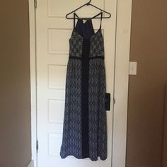 J.Crew Maxi Dress Barley worn maxi dress. Smoke free home J.Crew Factory Dresses Maxi