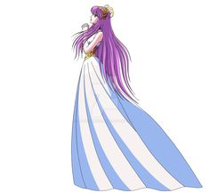 Reconstrucción de la imagen de Athena que aparece en el Opening de Soul of Gold con los colores del manga. >>Anime Colors >>Reference >>Color Reference