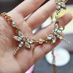 Mesmerizing Dragonfly Statement Necklace 16,90 € #happinessbtq