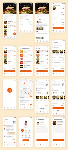 Android App Design, Android Ui, App Ui Design, Mobile App Design, Mobile Ui, Interface Design, User Interface, App Wireframe, Food Web Design