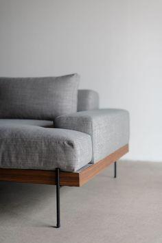 Rivera Sofa - Croft House Design Studio - LA, California – CROFT HOUSE Wood Frame Couch, Wood Sofa, Couch Furniture, Leather Furniture, Furniture Design, Apartment Sofa, Apartment Furniture, Futon Sofa, Sofa Seats