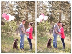 maternity photos with dog, baby girl