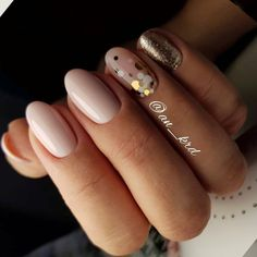 Nude and glitter nails