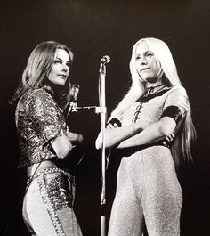 Frida and Agnetha Fältskog, ABBA.