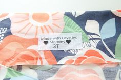 Learn how to make your own DIY Fabric Labels using a home printer. These DIY clothing labels are cheap and easy to make! Great for custom labels, sizes, etc