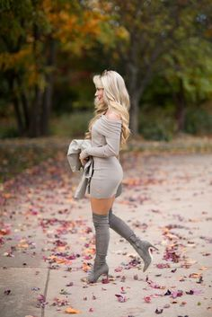 Off-the-Shoulder Fall Outfit - OliviaRink.com