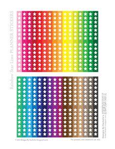 Scrapcraftastic: Rainbow Star Lists FREE Printable Planner Stickers