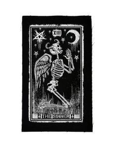 PATCH - THE SINNER TAROT CARD
