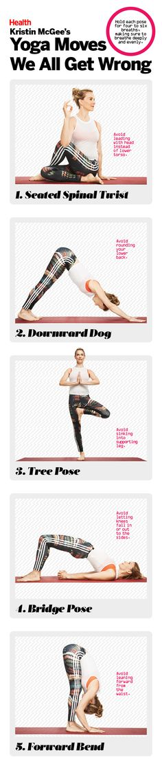 5 Yoga Moves You're Probably Doing Wrong—and How to Fix Them | Score more benefits from your flow and prevent injury by avoiding these form mistakes, as demonstrated by celebrity yoga instructor Kristin McGee.
