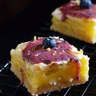 Gooey Lemon Bars with Blueberry Glaze. Tangy, sweet, rich, creamy, and out of this world. [OC] [670 x 1012] : FoodPorn