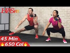 45 Min HIIT Tabata Workout with Weights - Full Body Dumbbell High Intensity Workout at Home Training - YouTube