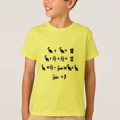 Shop Math Problem T-Shirt created by ZierNorShirt. Personalize it with photos & text or purchase as is! Types Of T Shirts, Math Problems, Funny Tshirts, Fitness Models, Casual, Sleeves, How To Wear, Unique, Shopping