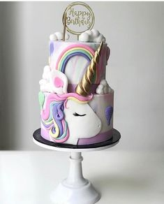 Unicorn Party, Unicorn Cakes, Cactus Cake, Birthday Cake, Desserts, Unicorns, Party Ideas, Food, Awesome