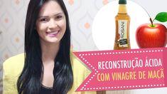 RECONSTRUÇÃO ÁCIDA com VINAGRE para Cabelos Elásticos Emborrachados e Danificados - YouTube